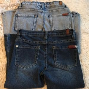 Set of two 7 for all mankind boys jeans size 2t